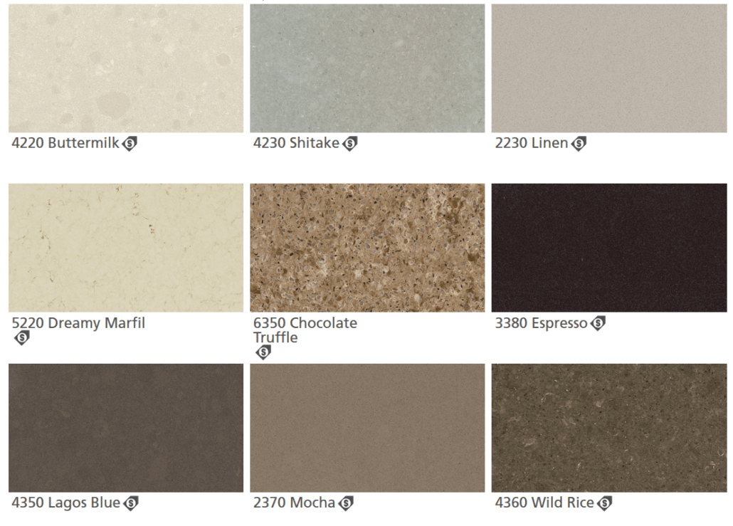 Caesarstone Quartz Colors Browns