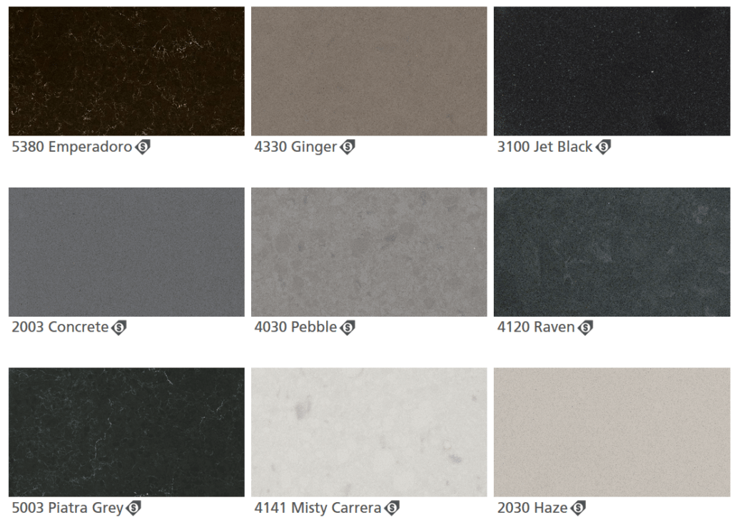 Caesarstone Quartz Colors Greys
