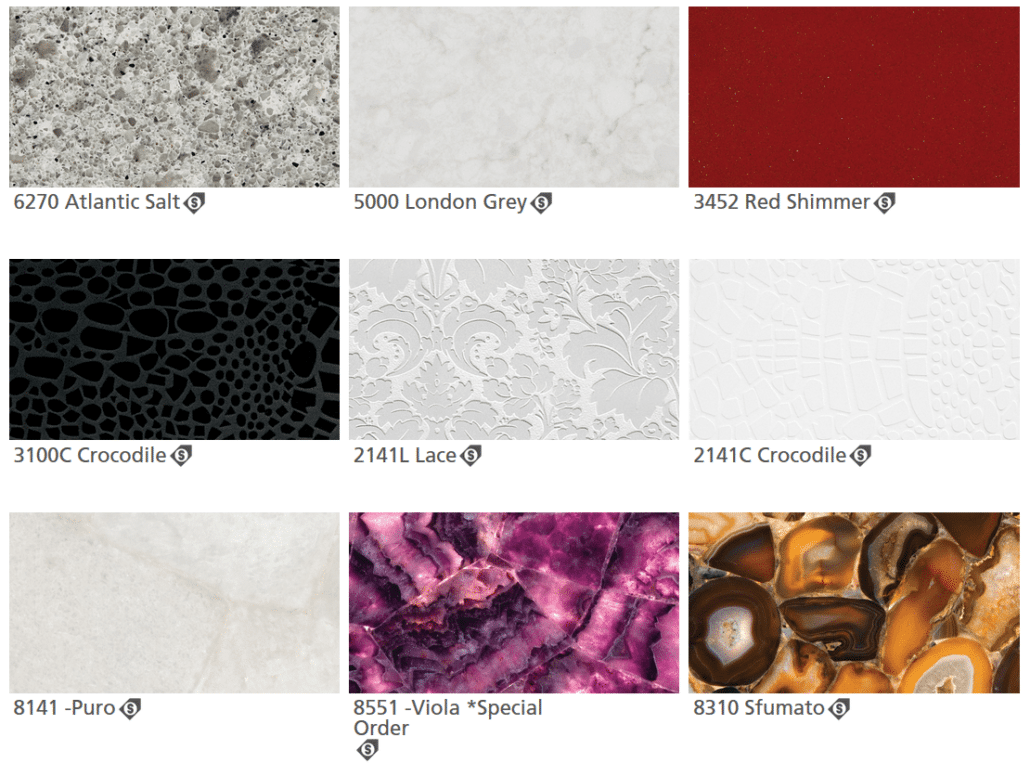 Ceasarstone Colors Quartz Prints