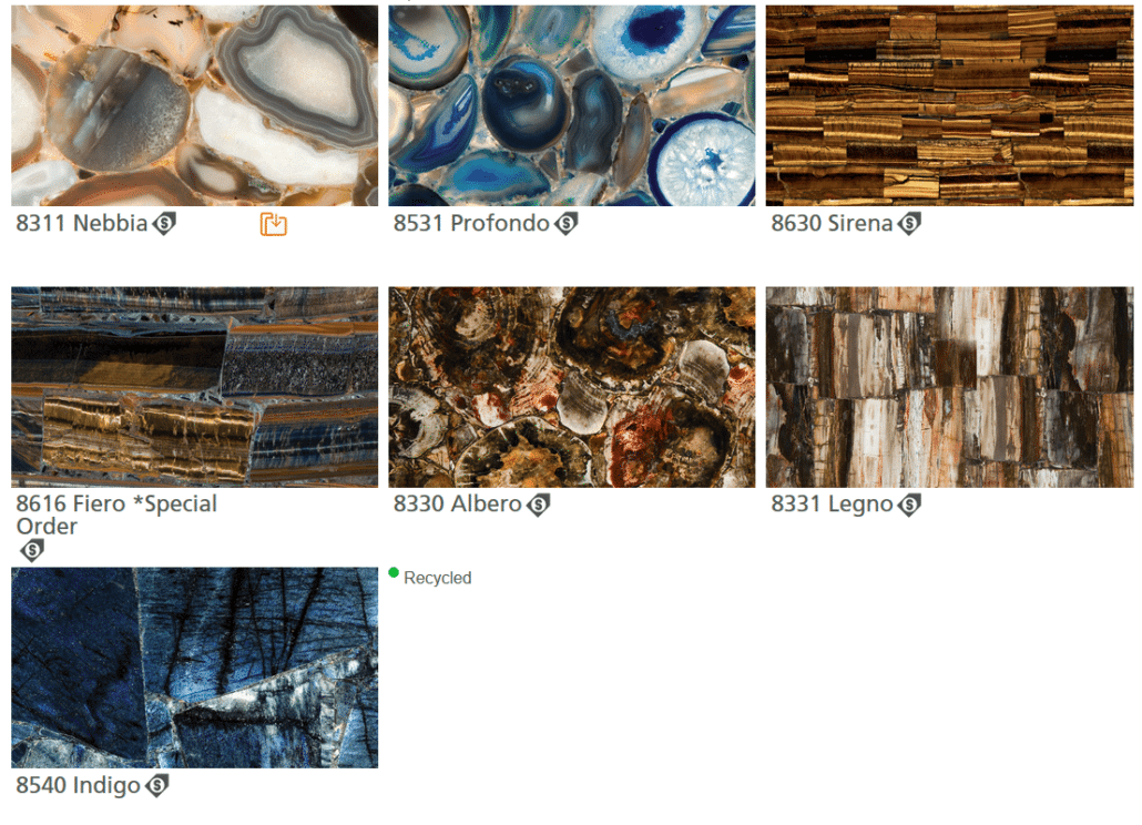 Ceasarstone Colors - Blues and Prints