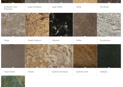Granite Countertops - Palette 5 - Browns