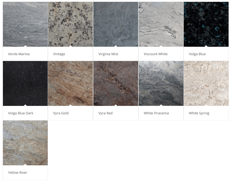 Granite Color Choices Palette 7