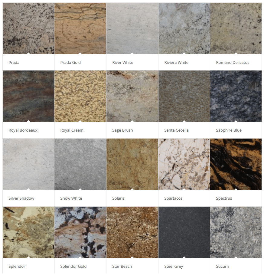 Granite Color Palette Pittsburgh Showroom