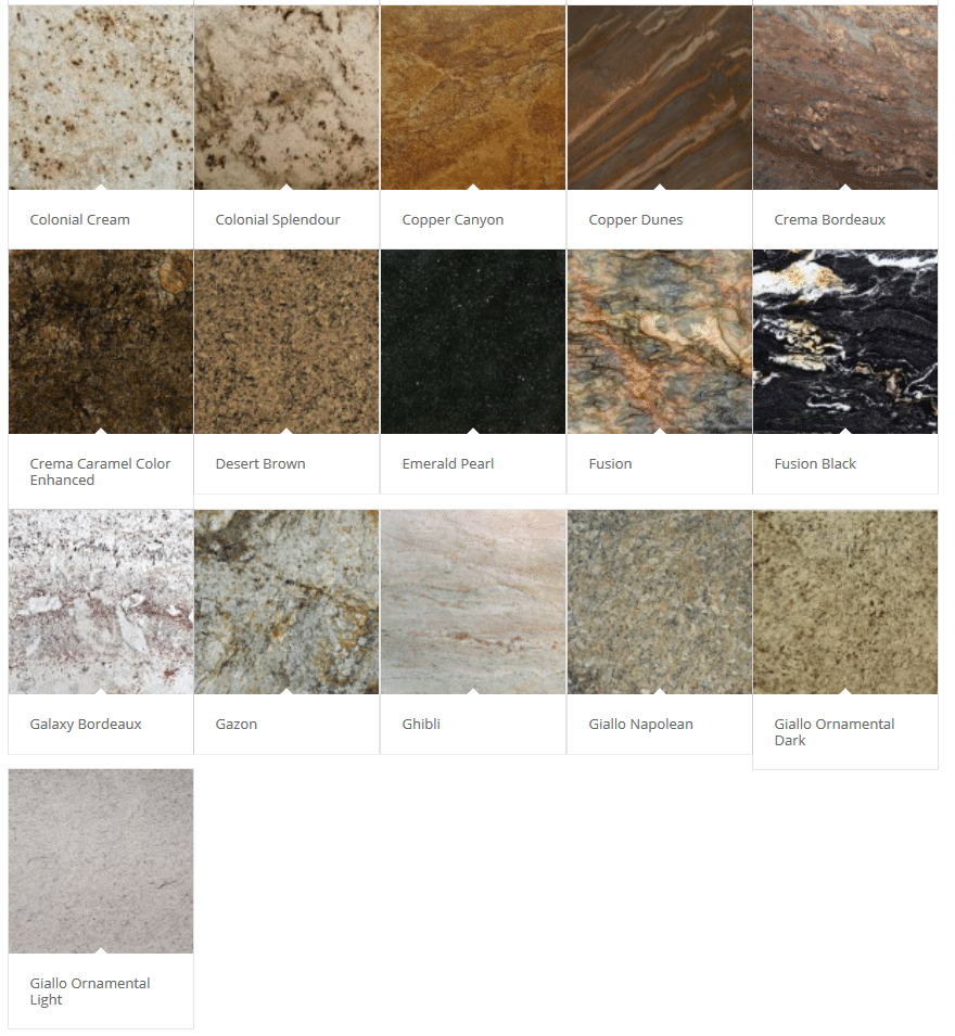 Pittsburgh Granite Colors