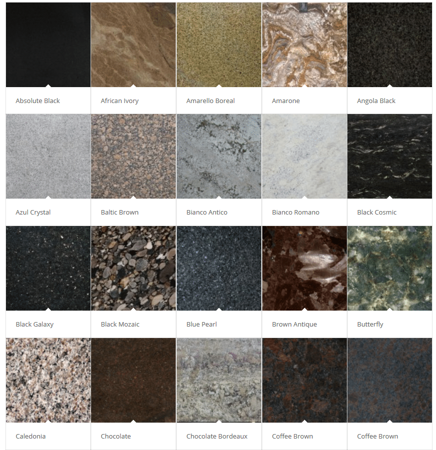 Granite Color Choices Pittsburgh