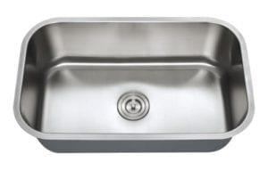 Big single bowl stainless steel kitchen sink