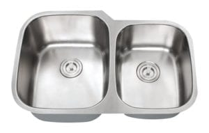 ORION - 1-3/4 Double bowl stainless steel kitchen sink