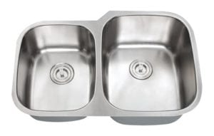 ORION - 1-3/4 Double bowl stainless steel kitchen sink reverse