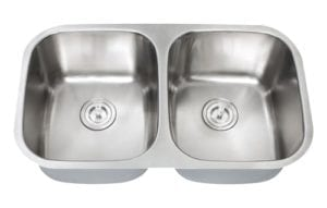 GEMINI - Double equal bowl stainless steel kitchen sink