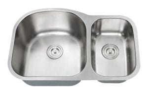 HERCULES - 1-1/2 Double bowl kitchen sink reverse 16 gauge