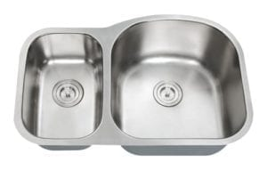 HERCULES - 1-1/2 Double bowl stainless steel  kitchen sink reverse