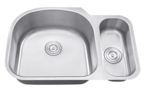 SEGIN - 1-1/3 Double bowl stainless steel kitchen sink
