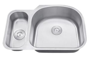 SEGIN - 1-1/3 Double bowl stainless steel kitchen sink reverse