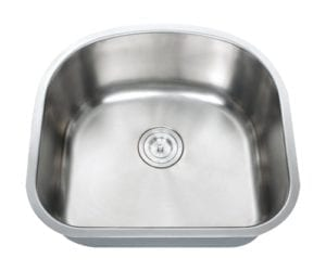 PEGASUS - Single bowl stainless steel kitchen sink 16 gauge