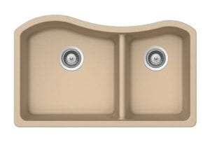 Granite Sinks - 1-3/4 Double Bowl - Beige