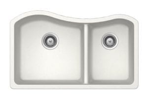 Granite Sinks - 1-3/4 Double Bowl - White