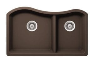 Granite Sinks - 1-3/4 Double Bowl - Brown