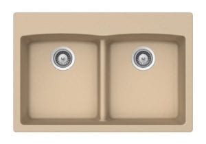Granite Composite Sink - Double Equal Bowl - Wheat