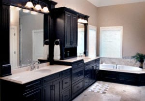 Marble bathroom vanity installed in Pittsburgh by Choice Granite & Marble