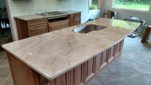 A Quartzite countertop installed in Pittsburgh by Choice Granite & Marble