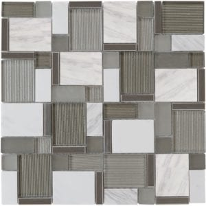 Pewter Mosaic Wolf Accent Tile Choice Pittsburgh Tile Sales