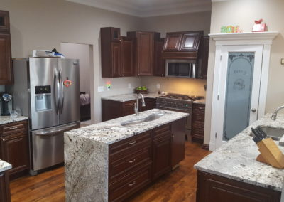 Pittsburgh-Granite-Countertops-Enigma-Waterfall-Panel-Choice-Granite-Marble