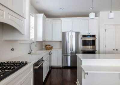Kitchen with quartz countertops in Lot 7 Siena at St Clair